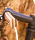 detail wooden steer bike