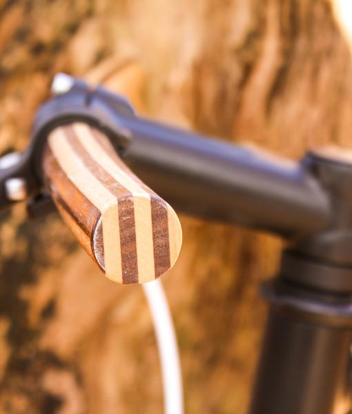 detail wooden steer bike