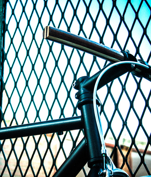 wooden handlebar fence