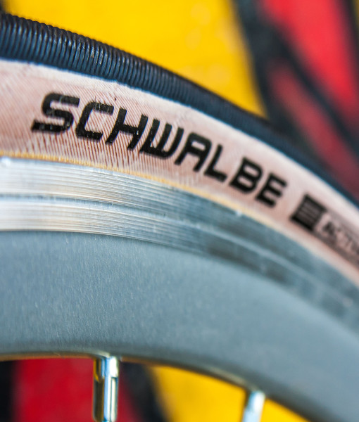 closeup schwalbe lugano tires wootbikes fixed gear