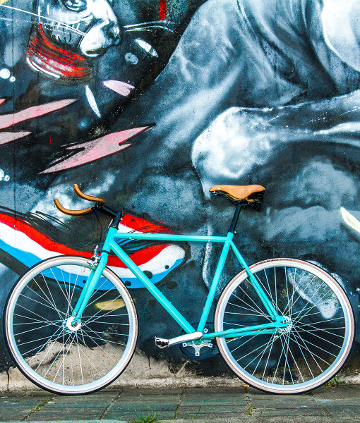 wootbikes carrea by graffiti retro wall